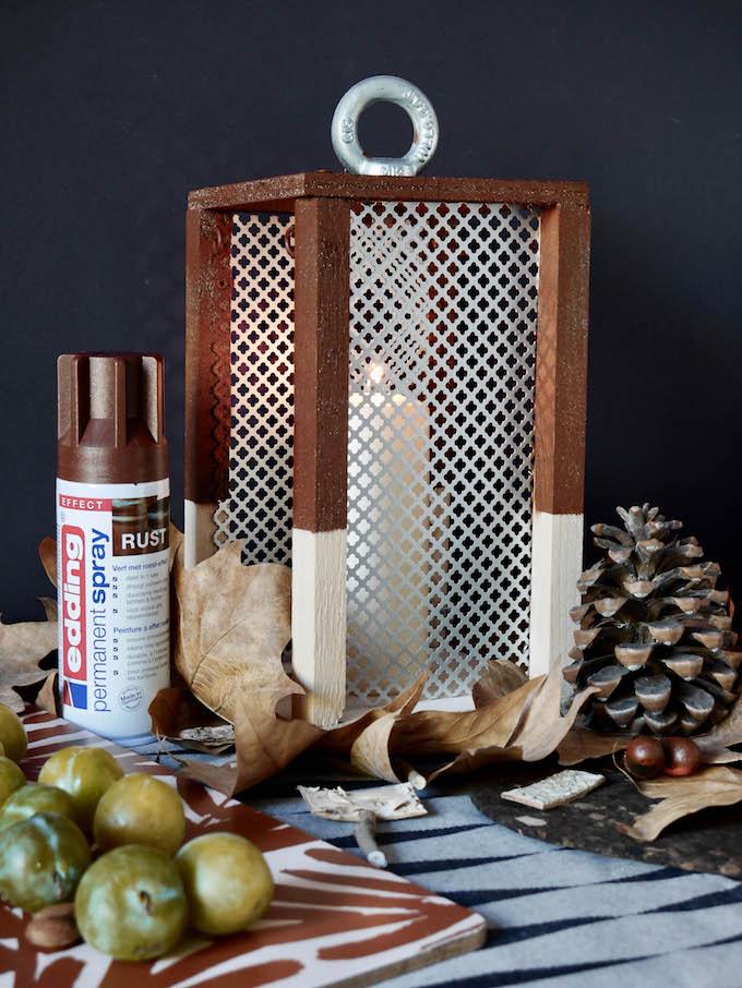 idée déco d'automne à faire soi même lanterne diy blog déco clem around the corner