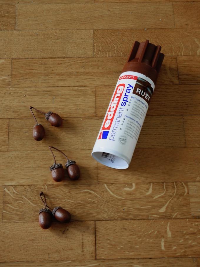 idée déco automne à faire soi-même personnalisation chataigne gland rust edding diy - blog décoration - clem around the corner