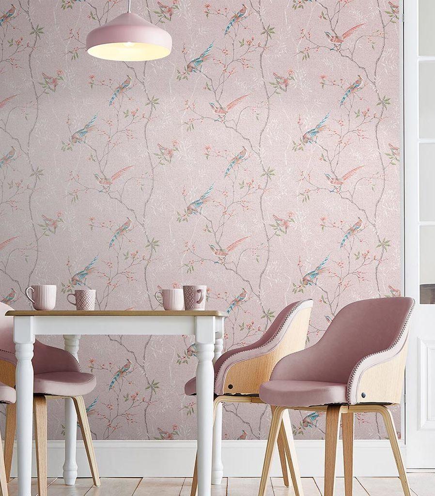 tori japonais rose papier peint de l'année 2019 - Blog Déco - Clem Around The Corner