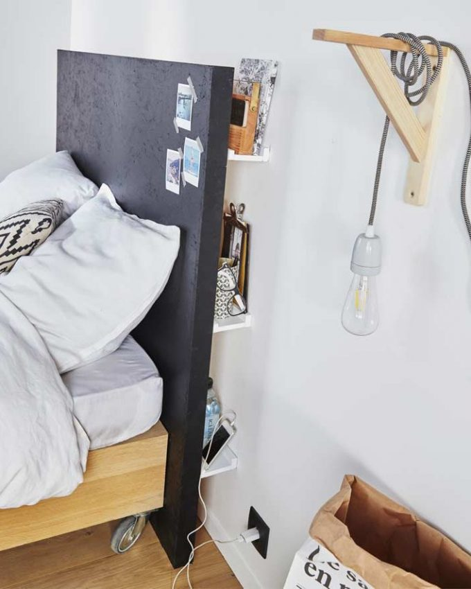 comment fabriquer une tête de lit avec rangement - blog déco - clem around the corner