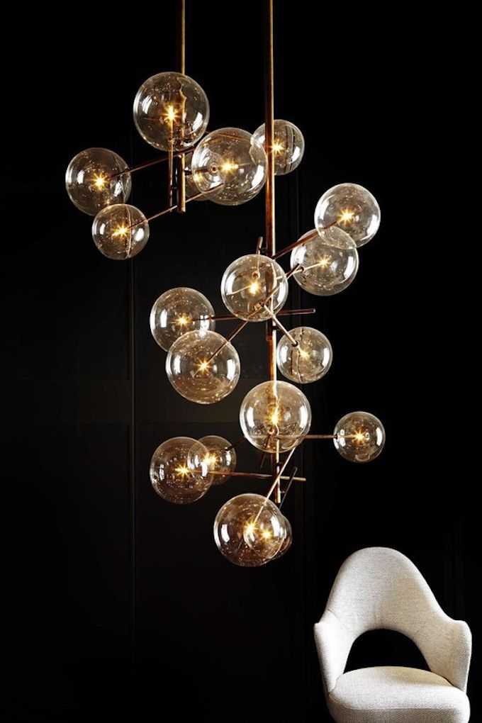 suspension design lumière déco décoration laiton or  -clem around the corner blog déco