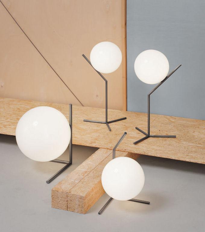 lampe boule lot de quatre luminaire poser design décoration
