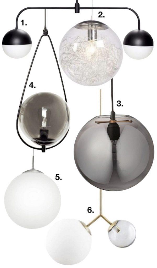 lampe boule suspension design décoration intérieur idée déco luminaire clemaroundthecorner blog déco