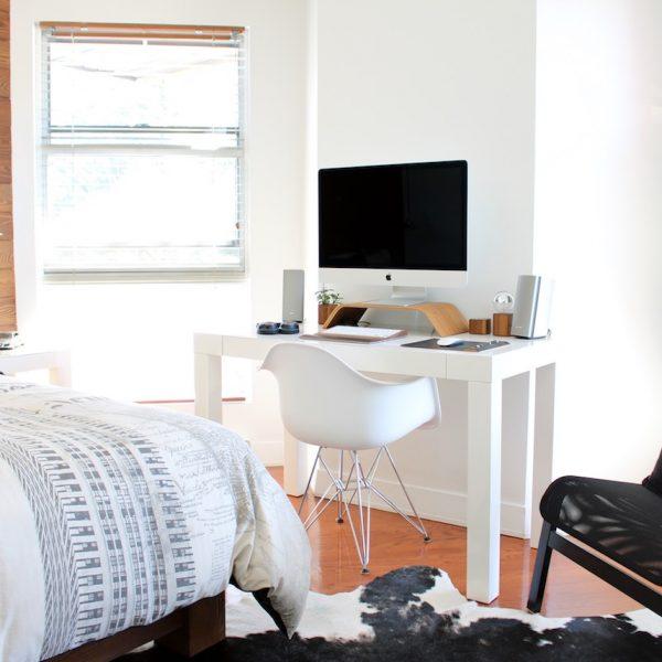 aménager 20m2 appartement étudiant salon chambre bureau