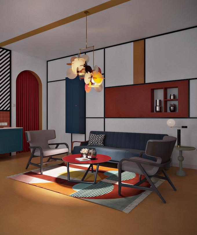 daria zinovatnaya blog déco clemaroundthecorner salon original séjour décoration art artistique avantgardiste hipster design