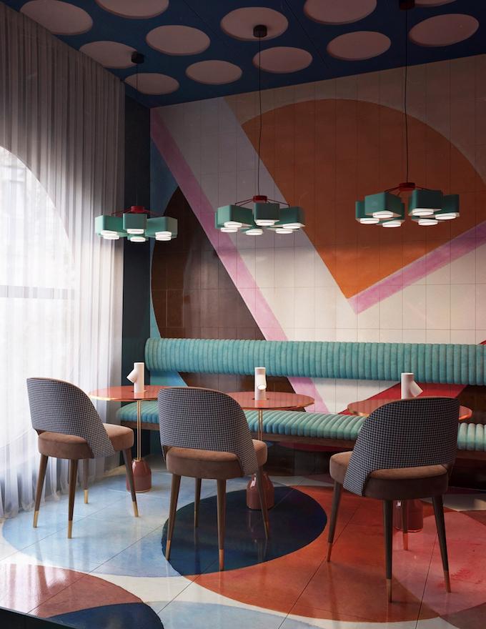 daria zinovatnaya blog déco clemaroundthecorner restaurant original décoration design couleurs art