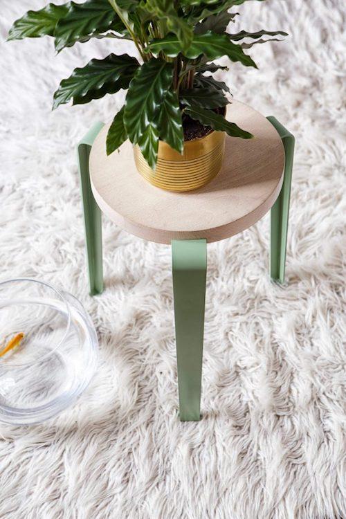 aménager 20m2 tiptoe tabouret plante verte verdure fourrure décoration blog déco