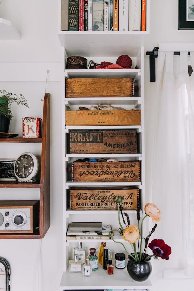 petite maison simple boite fromage bois rangement customisation personnalisation déco vintage