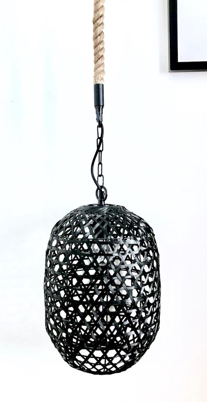 usine mode et maison suspension rotin noire ficelle industrielle blog deco clem around the corner