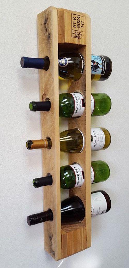 aménager 20m2 bouteilles verres vin décoration palette diy upcycling