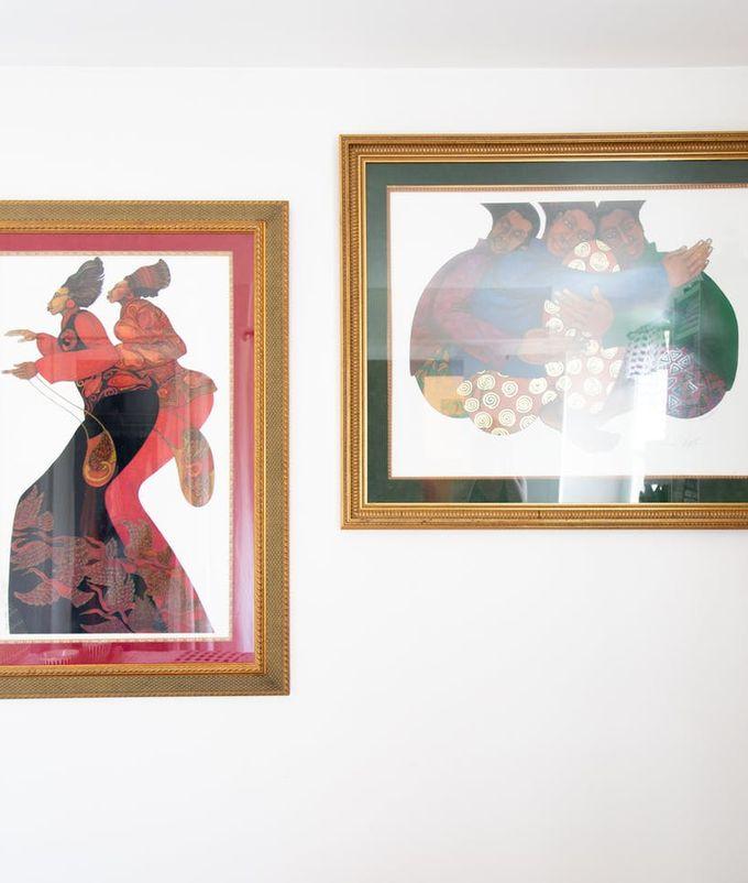 apaprtement minimaliste tableau afro africain mur blanc clemaroundthecorner blog déco