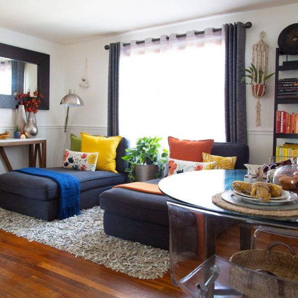appartement minimaliste vue salon salle à manger clemaroundthecorner blog déco