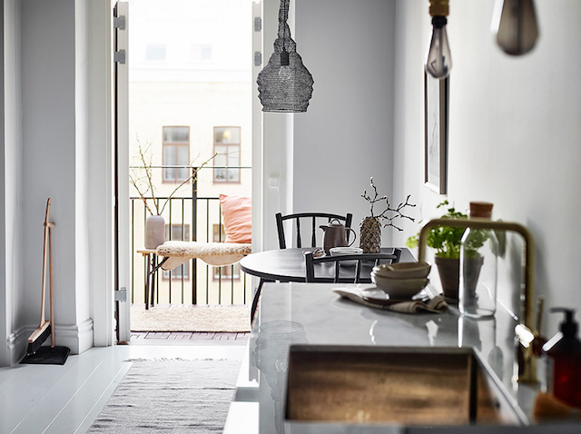 coin repas cuisine scandinave shades of grey - blog déco - clem around the corner