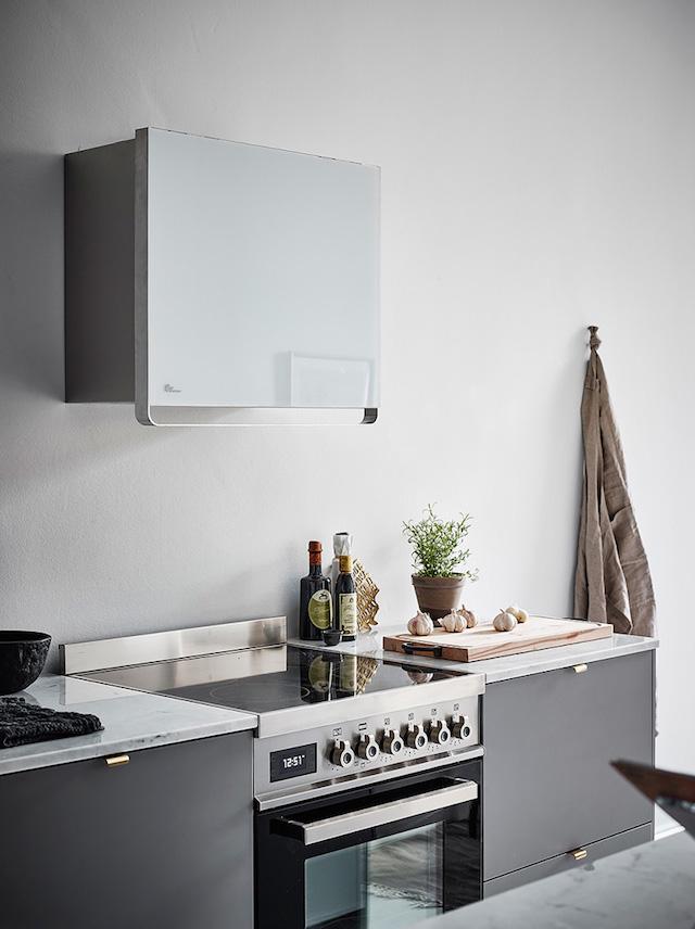 cuisine grise minimaliste shades of grey - blog déco - clem around the corner