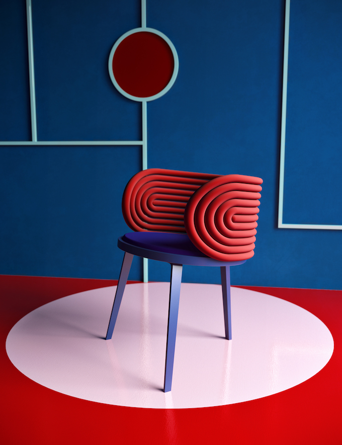 daria zinovatnaya blog déco clemaroundthecorner chaise iconique design red dot award cherokee rouge couleur bleu forme