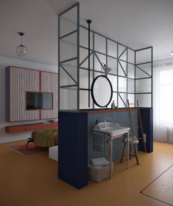 daria zinovatnaya blog déco clemaroundthecorner salle de bain lavabo vasque verrière original chambre