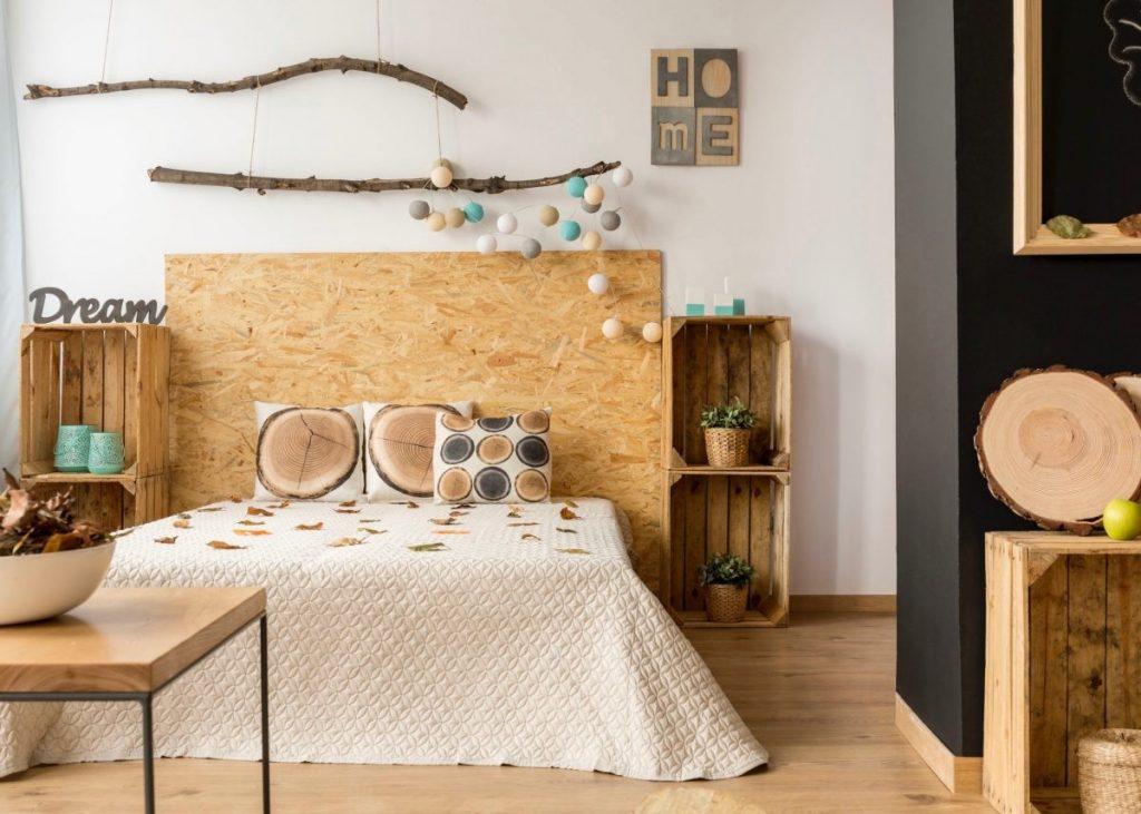 idée bricolage chambre a faire soi-meme tête de lit avec rangement diy - blog déco - clem around the corner