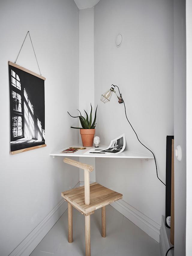 mini coin bureau angle salon shades of grey - blog déco - clem around the corner
