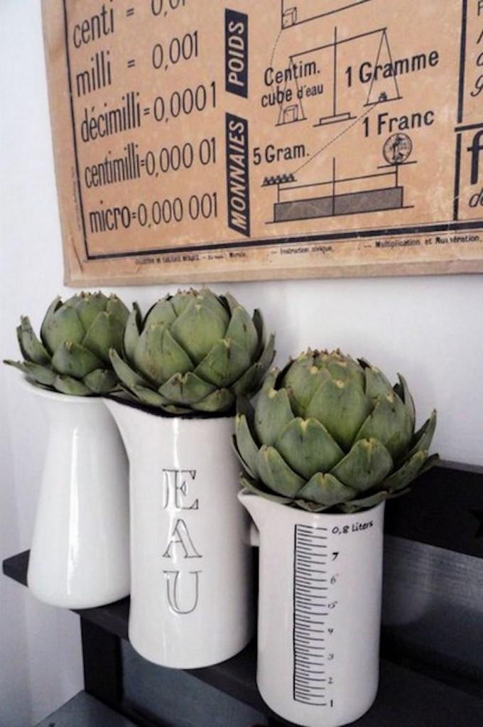 que faire avec des artichauts déco végétale bouquet avec artichaut clemaroundthecorner blog déco