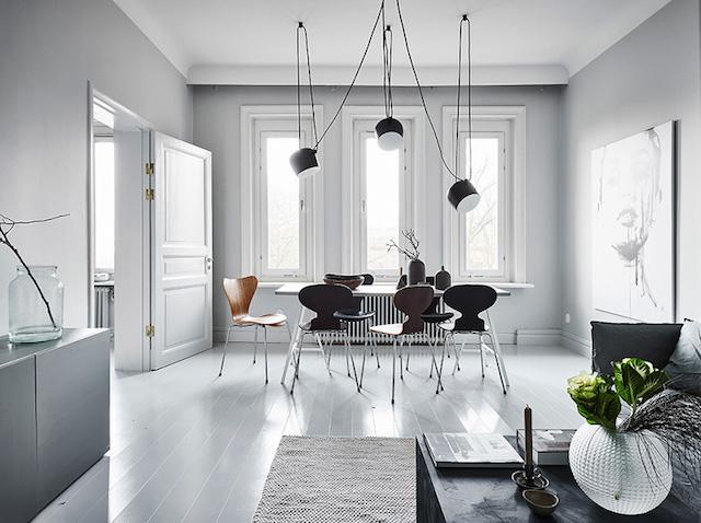 salle à manger scandinave nuance de gris shades of grey - blog déco - clem around the corner
