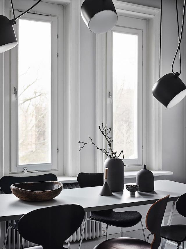 table à manger noire grise shades of grey - blog déco - clem around the corner