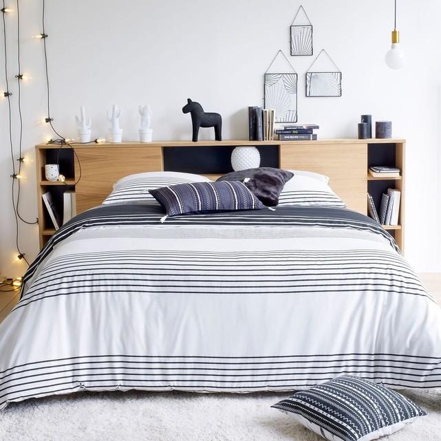 tête de lit avec rangement finition bois niche pas cher design moderne - blog déco - clem around the corner