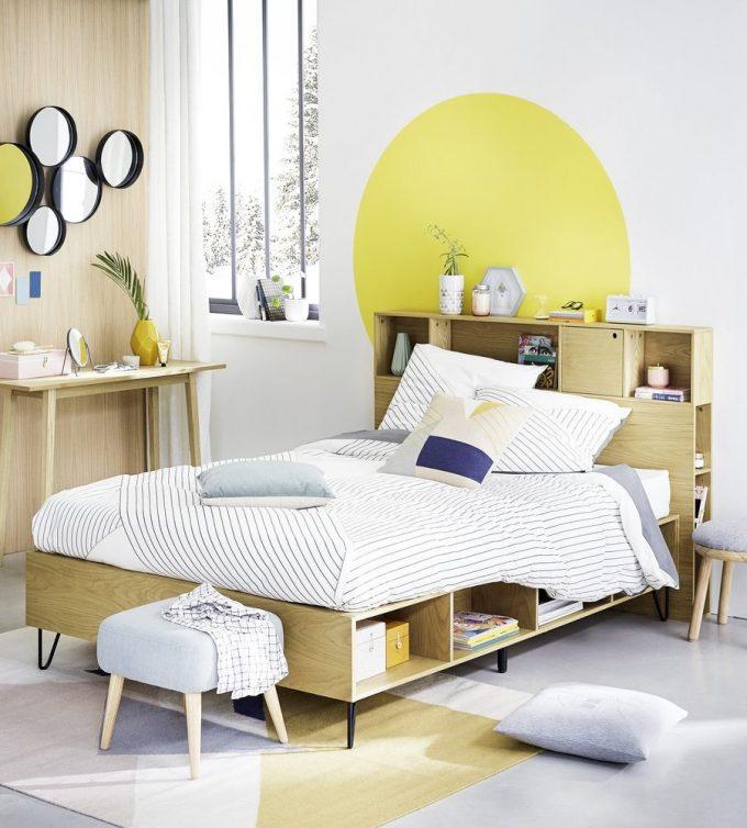 tête de lit avec rangement scandinave chic bois - blog déco - clem around the corner