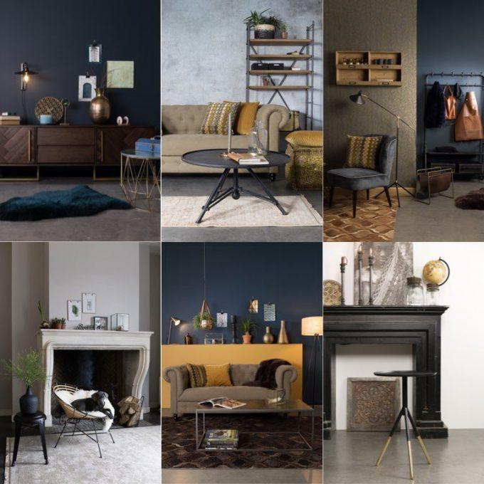 salon sombre couleur sourde dutchbone deco blog design hollandais cosy chic clem around the corner