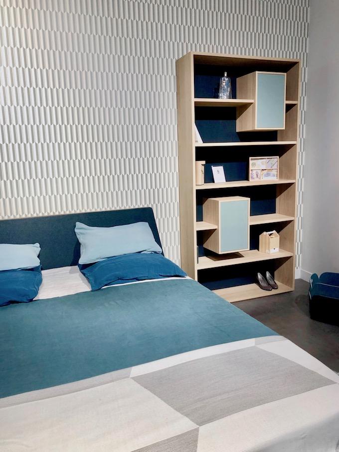 drugeot manufacture made in france design bibliothèque bois camaieu bleu - blog déco - Clem Around The Corner