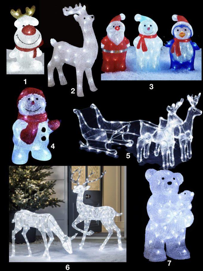 déco de noël extérieure statuette lumineuse renne ourson bonhomme neige - blog déco - Clem Around The Corner