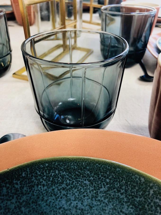 décoration table d'automne verre à eau style art déco - blog déco - Clem Around The Corner
