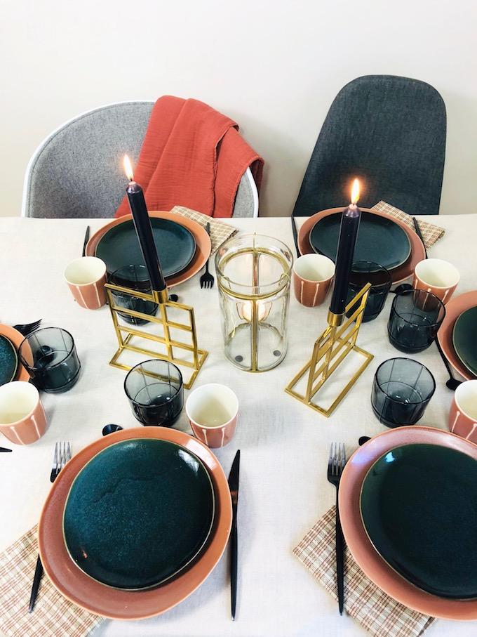 décoration table d'automne élégante chic terracotta - blog déco - Clem Around The Corner