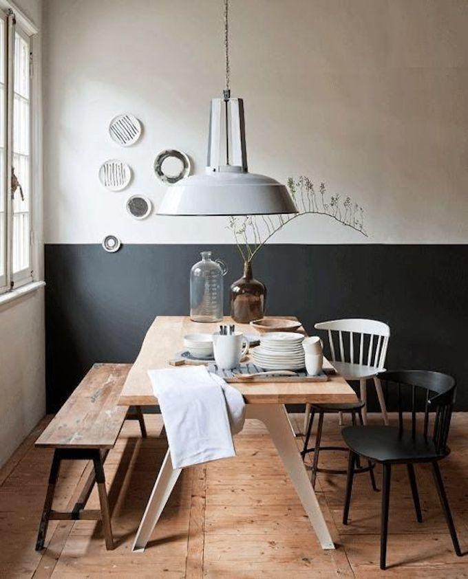 assortir des chaises dépareillées banc bois scandinave blog déco clem around the corner