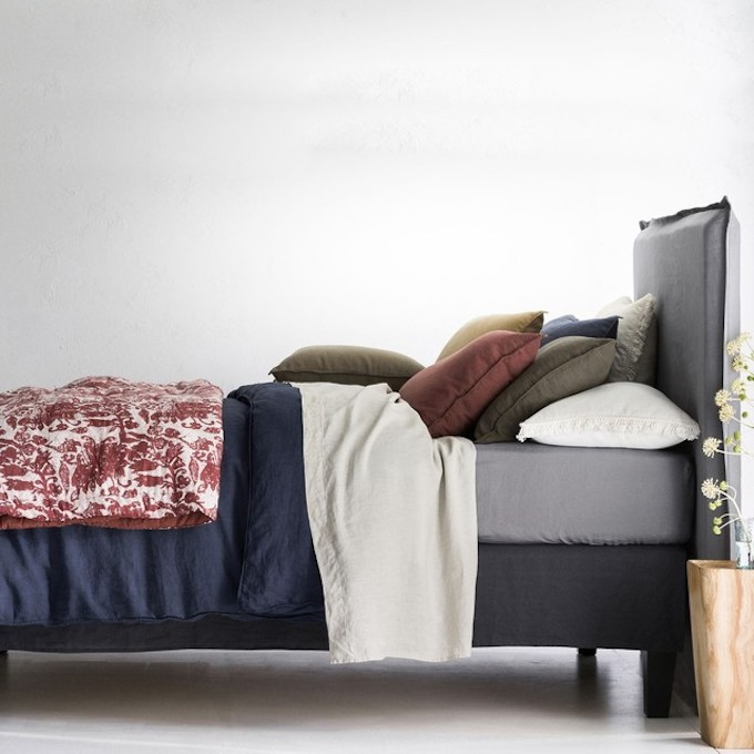 linge de lit en chanvre textile lit couleurs cosy hygge blog déco clem around the corner
