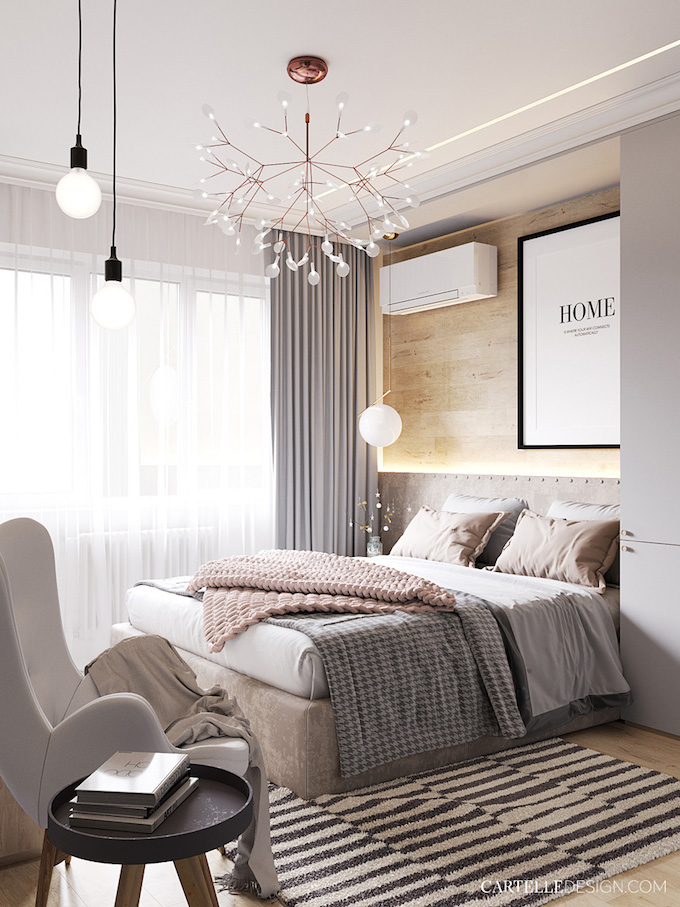 chambre grise hygge slow life suspension poétique plume