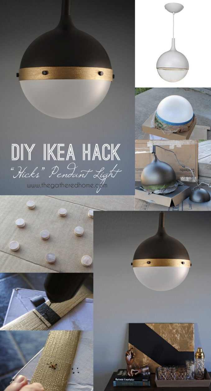 IKEA hack lampe DIY suspension - blog déco - Clem Around The Corner