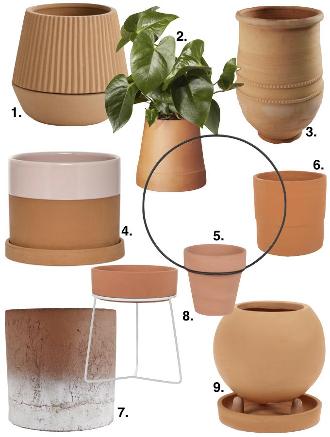 couleur terracotta pot terre jardin vase plantes blog deco clem around the corner