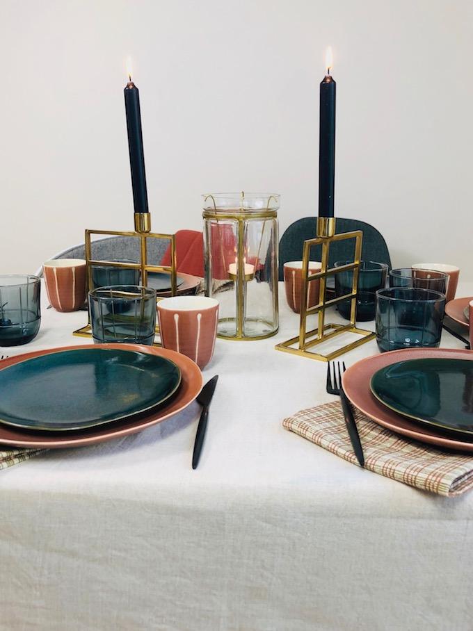décoration table d'automne maison terracotta - blog déco - Clem Around The Corner