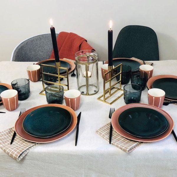 décoration table d'automne maison terracotta orange - blog déco - Clem Around The Corner