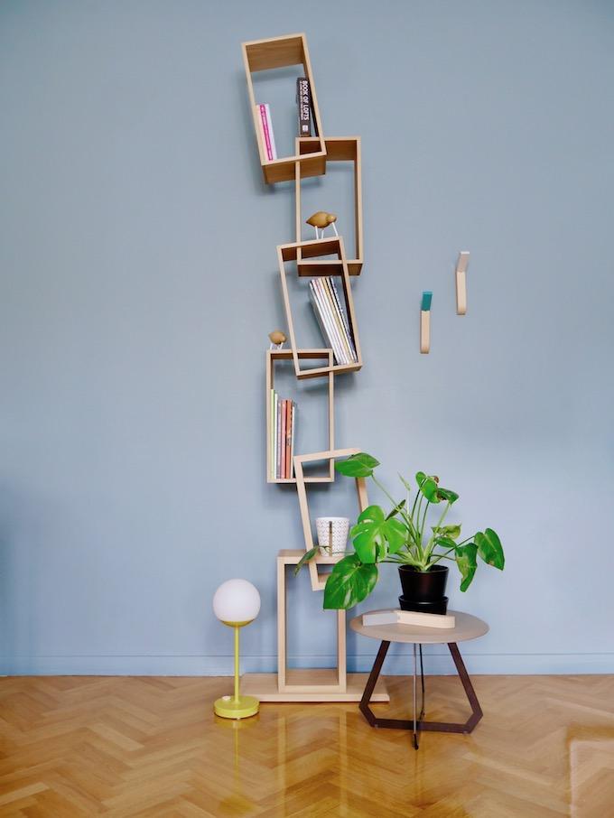 drugeot manufacture bibliothèque étagère cube travers équilibre made in france - blog déco - Clem around the corner