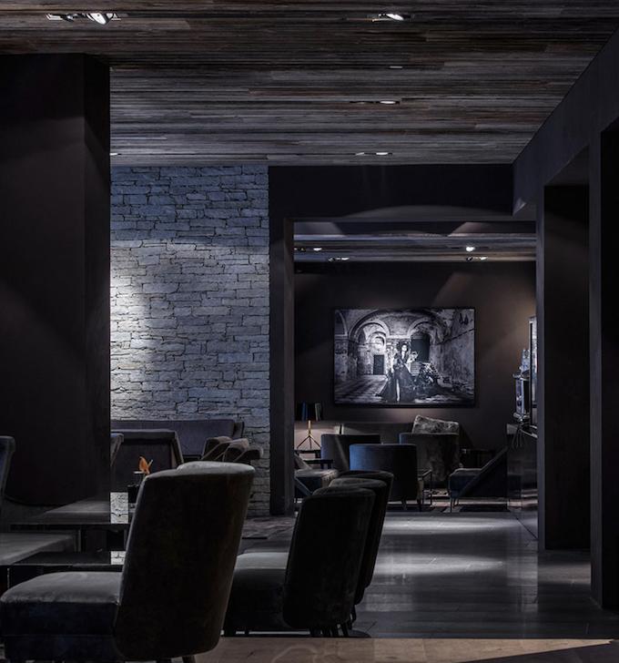 hôtel chic en pleine montagne bar lounge classe blog déco clem around the corner