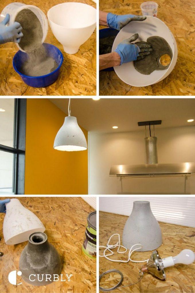 ikea hack lampe diy béton - blog déco - Clem Around The Corner