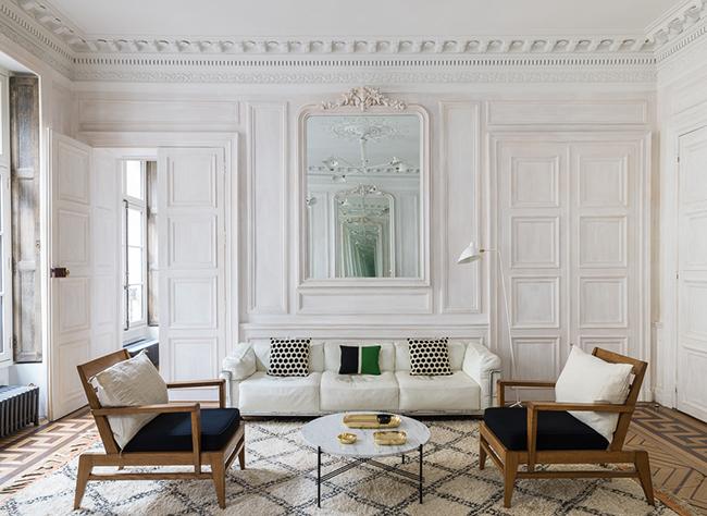 style décoration classique minimaliste pied-à-terre parisien - blog déco - Clem Around The Corner