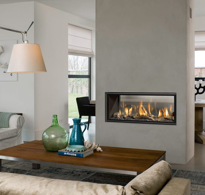 poele cheminée gaz séparation séjour salon design avis - blog déco - clem around the corner