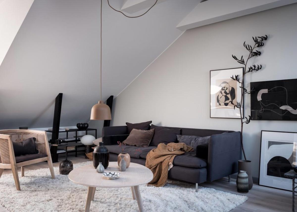 appartement design suédois canapé salon - blog déco - clem around the corner