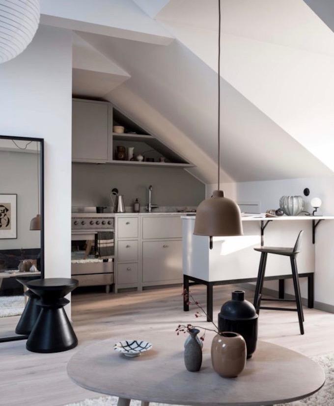 appartement design suédois salon cuisine ouverte blog déco clem around the corner