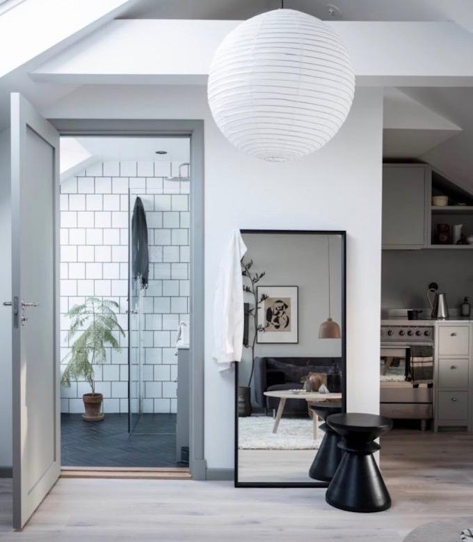 appartement design suédois salle de bain entrée blog déco clem around the corner