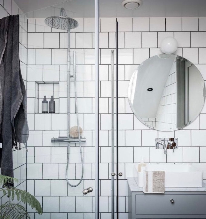 appartement design suédois salle de bain blanche blog déco clem around the corner