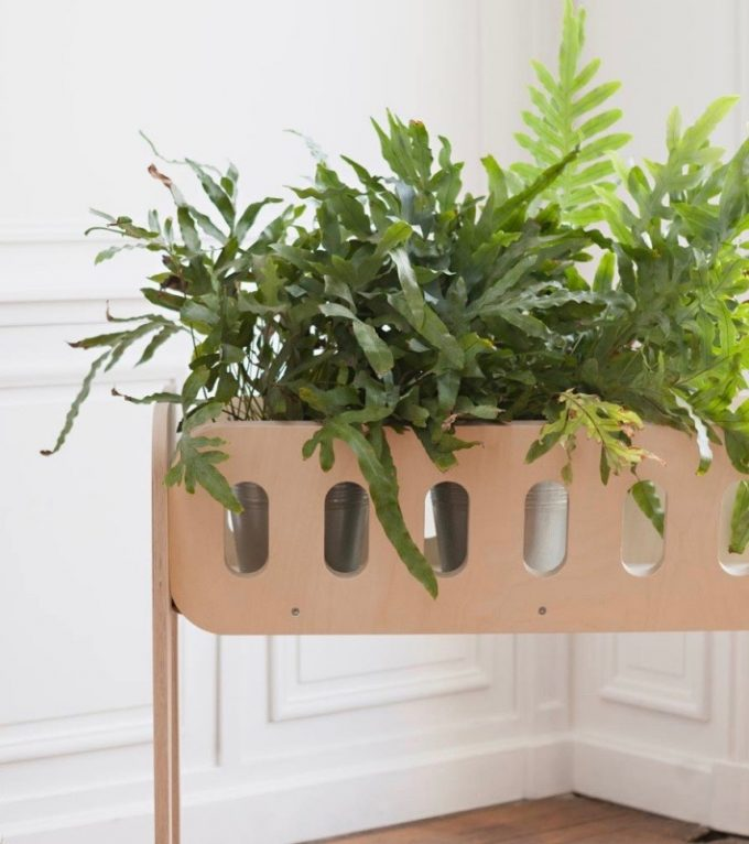 jardiniere scandinave bois brut - blog déco - Clem Around The Corner