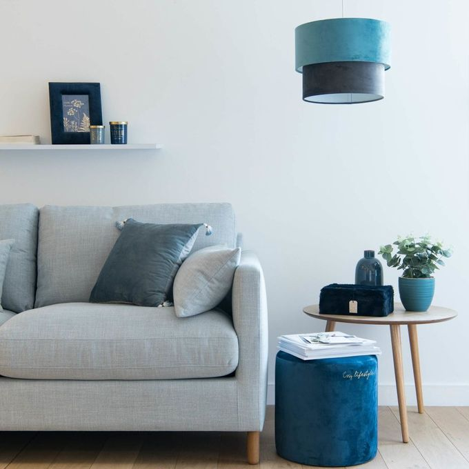 passer son appartement en mode hiver pouf velours velvet suede blog déco clem around the corner